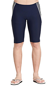 Sports Men's Swimwear Soft / Compression / Comfortable Swimwear Bottoms Adjustable Black / Blue Black / Blue S / M / L