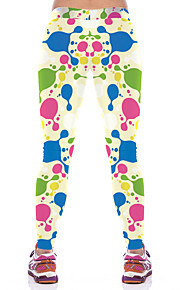 Yoga-Hose Unten Atmungsaktiv / Videokompression Normal Dehnbar Sportbekleidung Blau Damen Sport® Yoga / Pilates