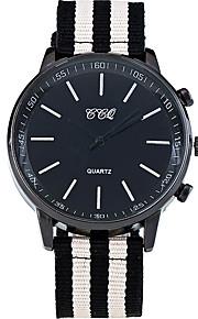 Masculino Relógio de Pulso Quartz / Tecido Banda Legal / Casual Branco / Vermelho / Marrom marca