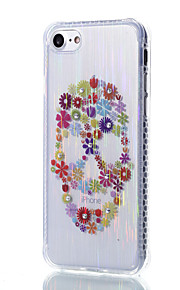 il materiale di disegno cranio e fiori filo modello trasparente telefono TPU per il iPhone 7 6S 6 Plus
