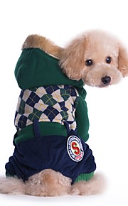 England Preppy Style Coat with Hoodie and Pants for Pets Dogs (Assorted Sizes and Colours)