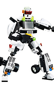 Building Blocks For Gift  / Robot Education Toys For Boys 203pcs Plastic Black / White