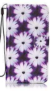 Ganzkörper Brieftasche / Kartenhalter / mit Ständer / Flip / Muster Blume PU - Leder Hart Fall-Abdeckung für LG LG K7
