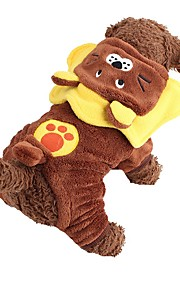 Cute Cartoon Lion Fleece Costume Jumpsuits Cosplay for Pets Dogs (Assorted Sizes)