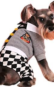 Gatos / Cães Casacos / Moletom / Macacão / Calças Cinzento Roupas para Cães Inverno / Primavera/Outono LaçoFérias / Da Moda / Casual /