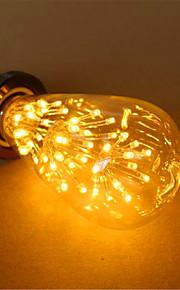 3 E26/E27 LED-globepærer ST64 54 DIP-LED 800 lm Varm hvit Dekorativ AC 220-240 V 1 stk.