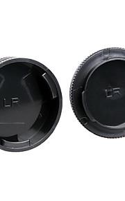 dengpin bageste objektivdæksel + kamerahuset hætte til Leica r3 r4 r5 r6 r7 r8 R9