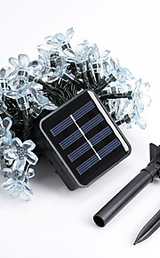 1pc 5m 50LED Solarschnurlicht für Urlaub Partei Hochzeit führte Weihnachtsbeleuchtung