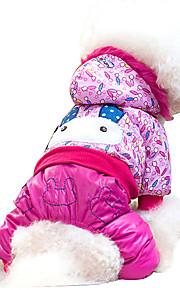 Perros Mono Rosa Ropa para Perro Invierno Animal Adorable / Moda / Deportes / Mantiene abrigado /