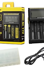 Nitecore D4 Charger Integrated LCD Panel Displays For Li-ion Ni-MH Ni-Cd Batteries