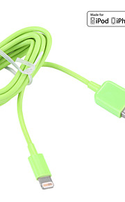 Lightning USB 3.0 Sladd Laddningskabel Laddningssladd Data och synkronisering Normal Kabel Till Apple iPhone iPad 100 cm Plast
