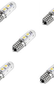 5pcs HRY 1W E14 LED Corn Lights 7 SMD 5050 80LM Warm/Cool White Bulb Refrigerator Light Fridge Lamps(AC220-240V)