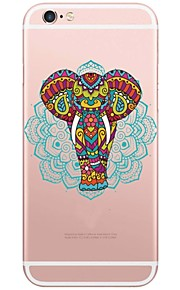 Elephant Pattern TPU Ultra-thin Translucent Soft Back Cover for Apple iPhone 6s Plus/6 Plus/ 6s/6/ SE/5s/5