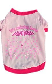 Gatos / Cães Fantasias / Camiseta / Colete Vermelho / Rosa Roupas para Cães Inverno / Verão / Primavera/Outono FlorFofo / Aniversário /