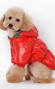 Cani Tuta Rosso / Blu / Nero / Caffè Abbigliamento per cani Inverno / Primavera/Autunno Tinta unita Cosplay / Casual /