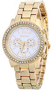 Mulheres Relógio de Moda / Relógio de Pulso Quartz / Aço Inoxidável Banda Legal / Casual Dourada marca