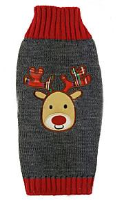 Gatos / Perros Abrigos / Camiseta / Suéteres / Accesorios Gris Ropa para Perro Invierno / Verano / Primavera/Otoño AnimalAdorable /