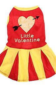 Gatos / Cães Fantasias / Vestidos Vermelho / Amarelo / Azul Roupas para Cães Verão / Primavera/Outono MarinheiroFofo / Casamento /