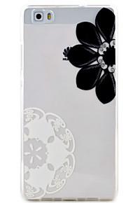 flores diagonal padrão de alta permeabilidade caso de telefone material de TPU Hawei p9lite p8lite y5ii y6ii