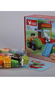 Puzzle brinquedo para presente Blocos de Construir Cachorros / Carro Plástico acima de 3 Arco-Íris Brinquedos