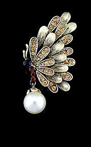 mode vintage udhule perle sommerfugl broche