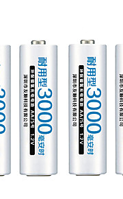 fulanka AA перезаряжаемые батареи AA NiMH 1.2V 3000mAh Ni-MH 2a предварительной зарядки батареи Bateria перезаряжаемые для камеры