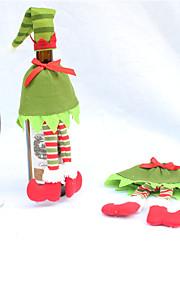 juldekorationer jul vinflaska täcka