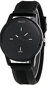 Mulheres Relógio de Moda / Relógio de Pulso Quartz / Silicone Banda Legal / Casual Preta / Branco marca