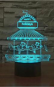 fornøyelsespark kontakt dimming 3D LED nattlys 7colorful dekorasjon atmosfære lampe nyhet belysning jul lys