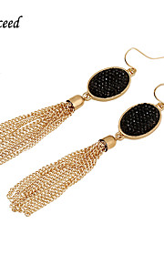 Earring Non Stone Drop Earrings Jewelry Women Wedding / Party / Daily / Casual Stainless Steel / Alloy / Resin 1 pairGold / Black / Red /