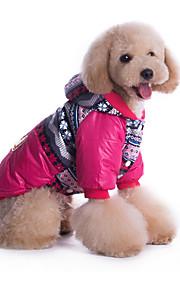 Cani Felpe con cappuccio Blu / Rosa Abbigliamento per cani Inverno / Primavera/Autunno Britsh Casual / Antivento /