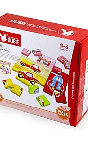 Puslespil For Gift Byggeklodser Originalt legetøj Firkantet Plastik Over 3 Regnbue Legetøj