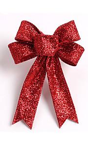 sparkling glitter julgran båge dekoration 13cm trasa 5 öron orament blommor båge knop för hem part bröllop dekoration