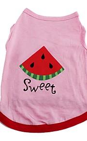 Gatos / Perros Camiseta / Chaleco Rosado Ropa para Perro Invierno / Verano / Primavera/Otoño FrutaAdorable / Cumpleaños / Vacaciones /