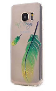 For Samsung Galaxy S7 edge   S7 Feather  Pattern Case Back Cover Case  Soft TPU