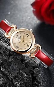 Mulheres Relógio de Moda Quartz Impermeável Couro Banda Pendente / Casual Preta / Branco / Vermelho marca