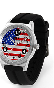 Unissex Relógio Esportivo / Relógio de Moda / Relógio de Pulso Quartz / Silicone Banda Casual Preta marca
