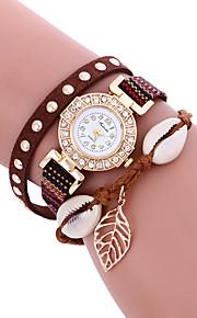 Mulheres Relógio de Moda / Relógio de Pulso Quartz / PU Banda Legal / Casual Preta / Branco / Azul / Marrom / Rosa / Rose marca