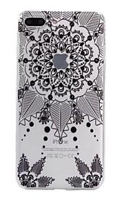 Für iPhone 7 Hülle / iPhone 6 Hülle / iPhone 5 Hülle Muster Hülle Rückseitenabdeckung Hülle Blume Weich TPU AppleiPhone 7 plus / iPhone 7