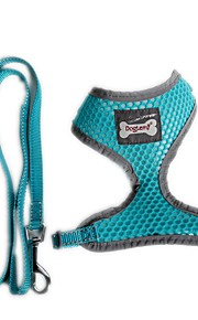 Funtional Reflecting Mesh Pets Safety Belt Harness for Pets Dogs with Leash