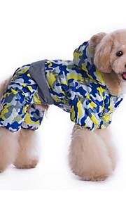 Cani Felpe con cappuccio Giallo / Blu Abbigliamento per cani Inverno / Primavera/Autunno Camouflage Sportivo /
