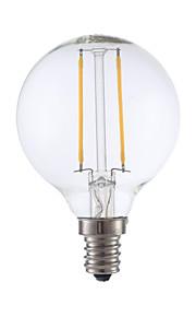 2W E12 LED-glødetrådspærer G16.5 2 COB 200 lm Varm hvid Justérbar lysstyrke V 1 stk.