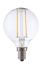 2W E12 LED Filament Bulbs G16.5 2 COB 200 lm Warm White Dimmable 120V 1 pcs