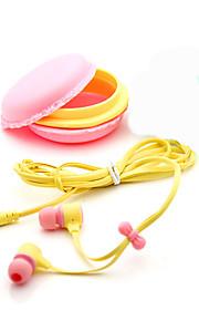 3.5mm의 최고 품질의 생일 선물 마카롱 이어폰 헤드폰 헤드셋