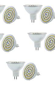 6W GU5.3(MR16) LED-spotpærer MR16 60 SMD 3528 550-600LM lm Varm hvit / Kjølig hvit Dimbar / Dekorativ V 10 stk.