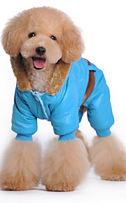 Psy Bluzy z kapturem Niebieski / Różowy Ubrania dla psów Zima Britsh Modny / Codzienne / Sportowy /