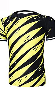 Esportivo Homens Manga Curta Moto Respirável / Secagem Rápida / Resistente Raios Ultravioleta / Redutor de Suor / CompressãoCamiseta /