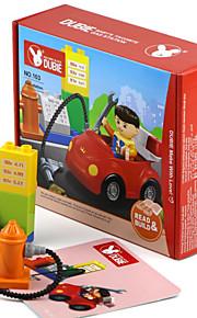 Blocos de Construir para presente Blocos de Construir Quadrangular / Forma Cilindrica / Carro Plástico acima de 3 Arco-Íris Brinquedos