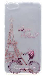 Para Transparente / Diseños Funda Cubierta Trasera Funda Torre Eiffel Suave TPU Wiko Wiko Lenny 3 / Wiko Lenny 2