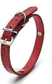 Dog Collar Adjustable/Retractable Solid Red Plastic